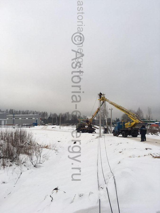 строительство линии электропередачи